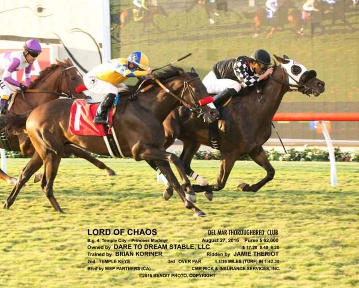 Lord of Chaos wins at Del Mar on 08/27/16 in race #10