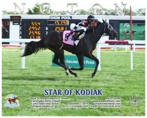 Star of Kodiak wins at Arlington Park on September 8, 2019 in race 5.